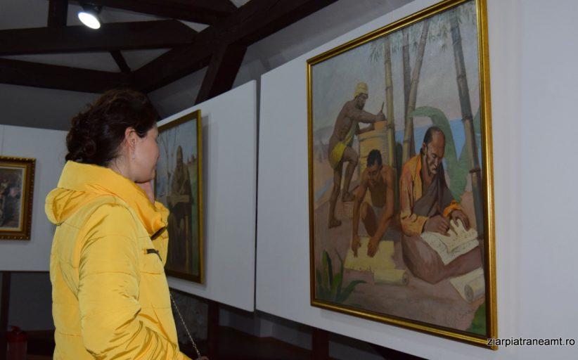 Pictorul băcăuan Nicu Enea, expus la Palatul Parlamentului