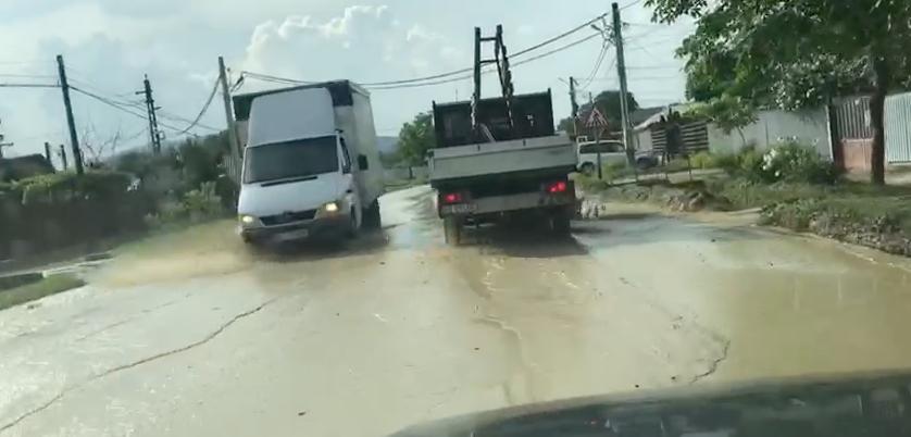 Inundații în Bacău (VIDEO)